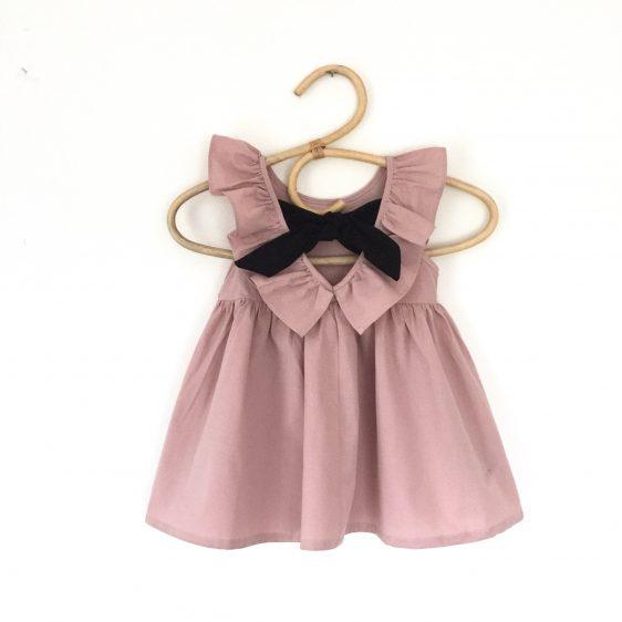 børnetøj kjole gl rosa